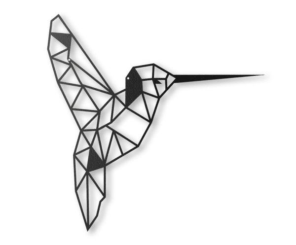 """Dekoracja ścienna """"Humming bird"""", 43 x 45 cm"""