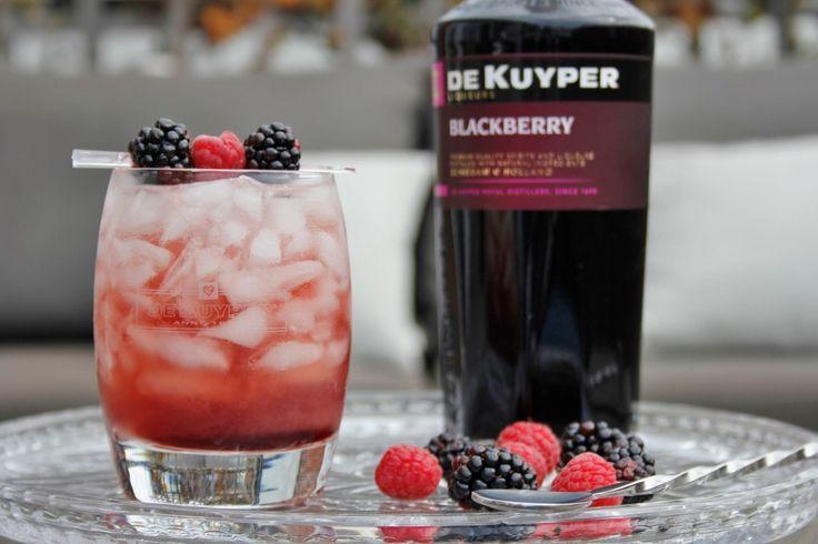 De Bramble cocktail is een mooie gin cocktail die je maakt met gin, blackberry likeur of creme de casis en limoen. Bekijk het recept op Cocktailicious.nl
