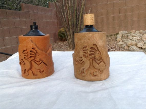 Kokapelli Tiki torch, southwestern torch, outdoor lighting, citronella torch, tiki torch, southwestern lighting