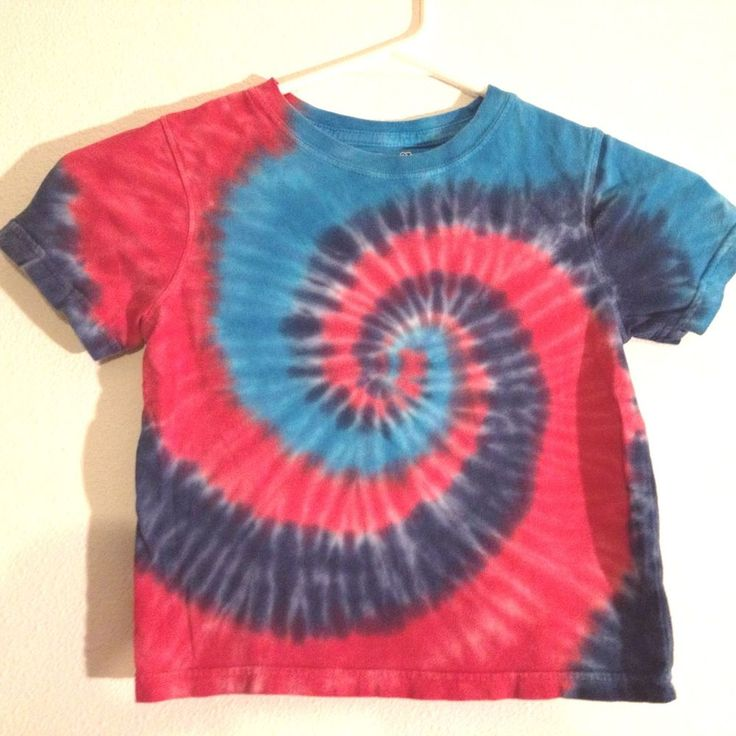 Kid's Tie Dye T Shirt Toddler 3 T by Jumping Bean Pink Turquoise Blue Swirl #JumpingBeans #Everyday