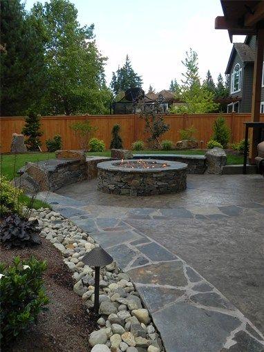 Concrete Patio Sublime Garden Design Snohomish Wa