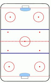 template for lines on hockey cake