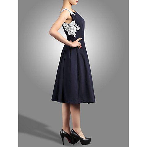 Buy Jolie Moi Lace Applique 50s Dress Online at johnlewis.com