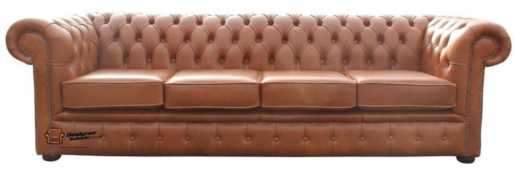 Ebay £899 Chesterfield 4 Seater Sofa Settee Hand Dyed Aniline Old English Tan Leather
