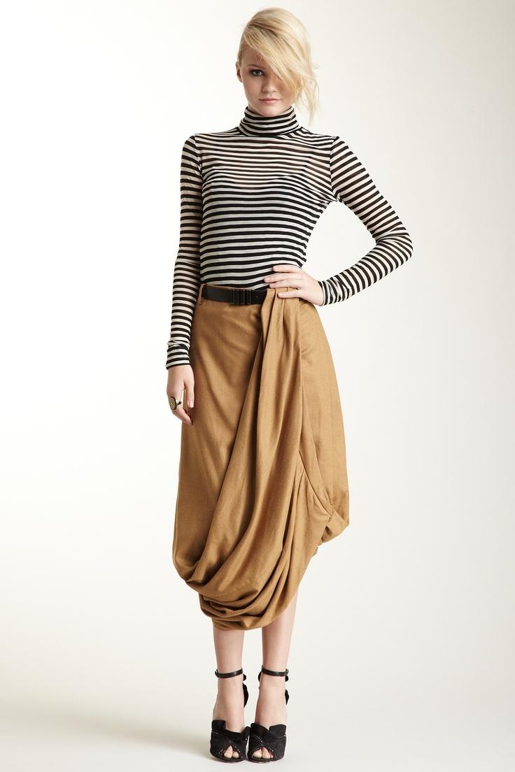 L.A.M.B. Drape Skirt