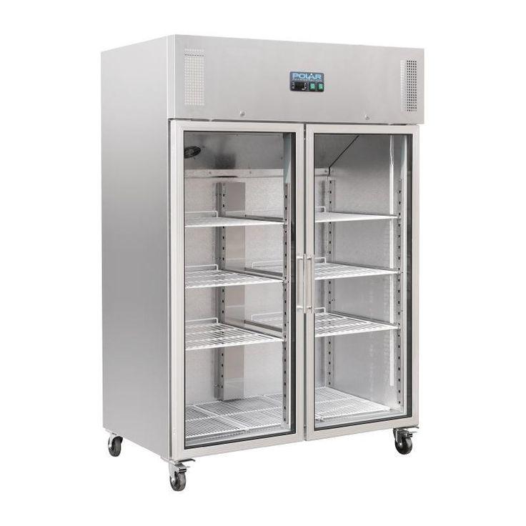 Armario frigorífico Gastronorm de puertas de cristal Polar