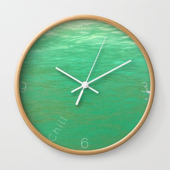 #chill #clock from #society6. #ocean #green and definitely #serene