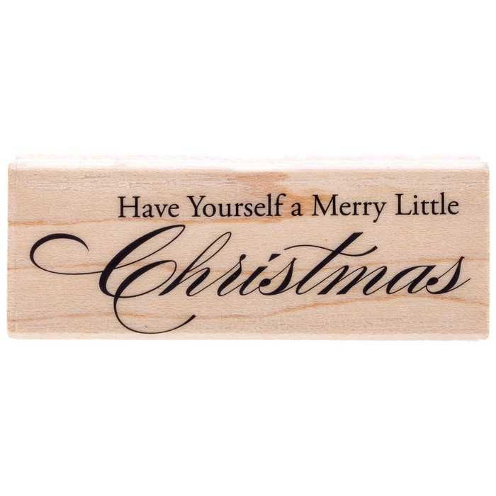 Merry Little Christmas 02 Rubber Stamp