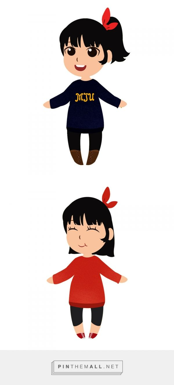 Character Design Illustration of Bawang Putih \ Works by Harice Ch - Aisha Ahya
