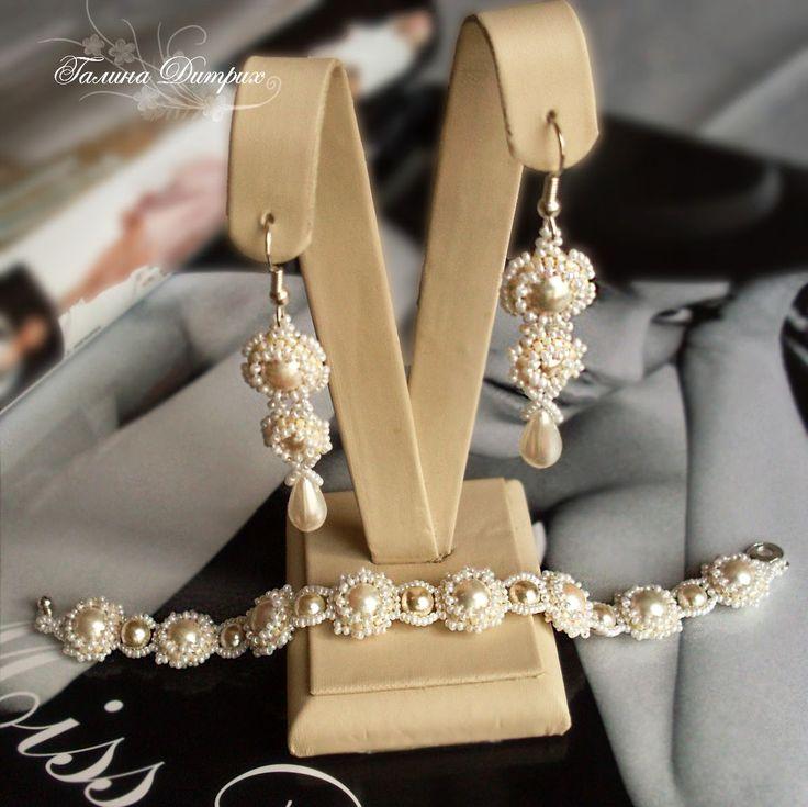 Свадебное ожерелье | biser.info - всё о бисере и бисерном творчестве