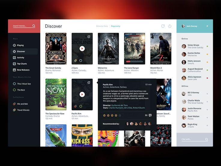 Movie Service UI - by Victor Erixon | #ui  #Web  #UX #WordPress #Resposive Design #Website #Graphics