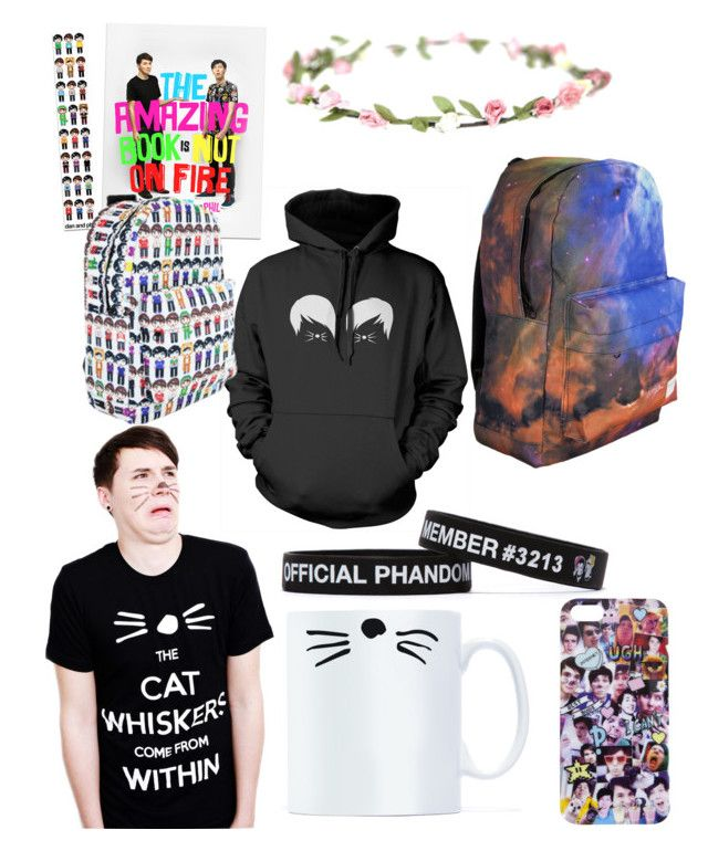 """""""Dan and Phil merch haul"""" by xxxskatergurl1xxx ❤ liked on Polyvore"""