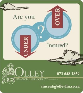 Are you over insured or under insured? Do you know how to find out? Read more about this and how we assist you in NOT falling into either insurance pitfall here: https://www.facebook.com/notes/olley-financial-services/insurance-under-or-over/170322973151322
