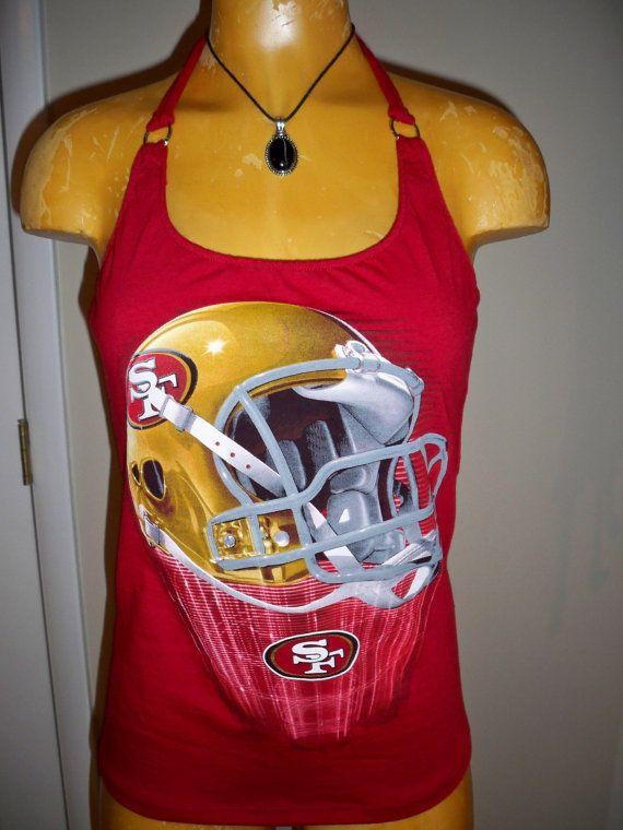 San Francisco 49ers halter top Diy NFL Football by harleyone, $27.00
