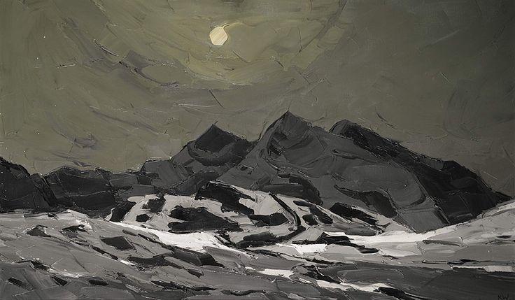 Snow Penygwryd by Kyffin Williams