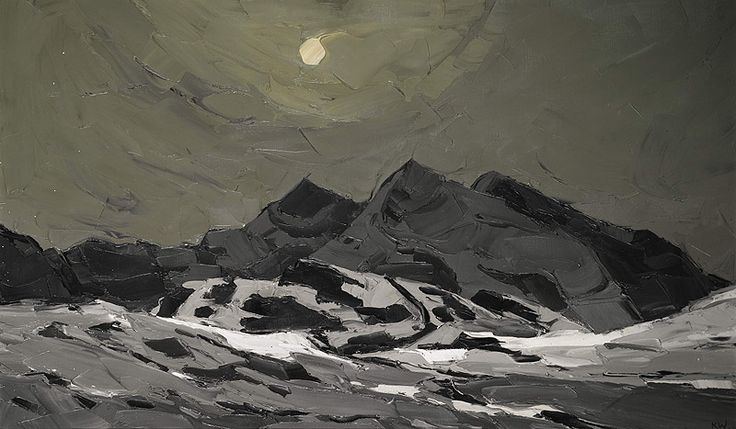 Snow Penygwryd by Kyffin Williams