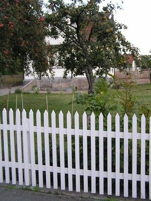 Klassiskt vitt staket