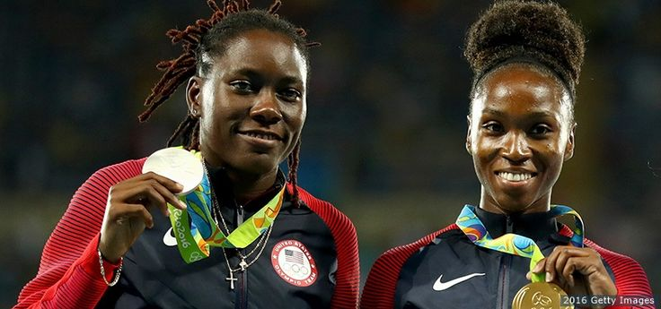 The Best Photos From Rio 2016: Aug. 18 EditionBrittney Reese and Tianna Bartoletta, Track and Field