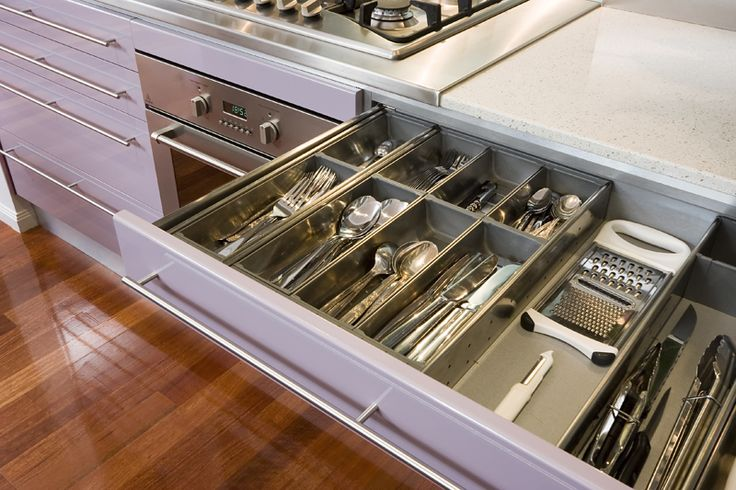 Sigh Drawers Used Blum Orgaline Type F Cutlery