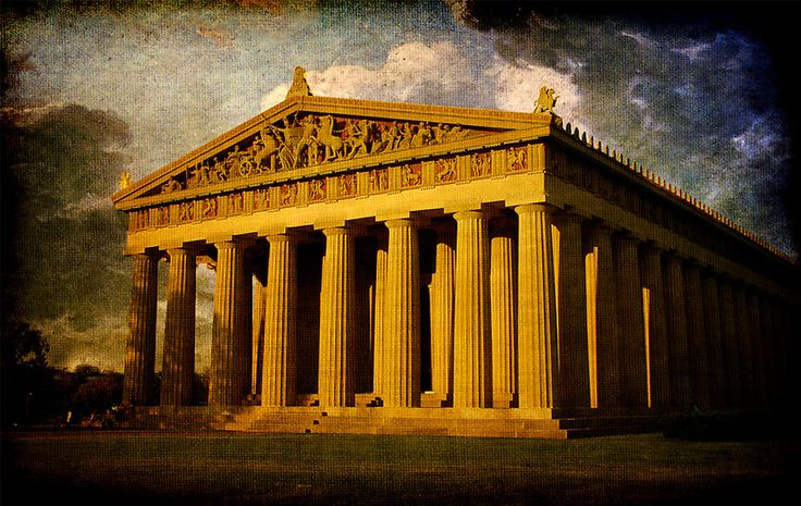 The Parthenon in Nashville, Tennessee is a full-scale replica of the original Parthenon in Athens. It was built in 1897 as part of the Tennessee Centennial Exposition.