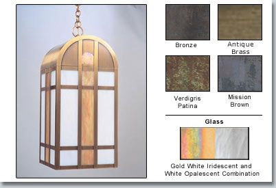 """Yorktown Arts And Crafts Outdoor Hanging Light 23"""" - Available at GrandLight.com"""