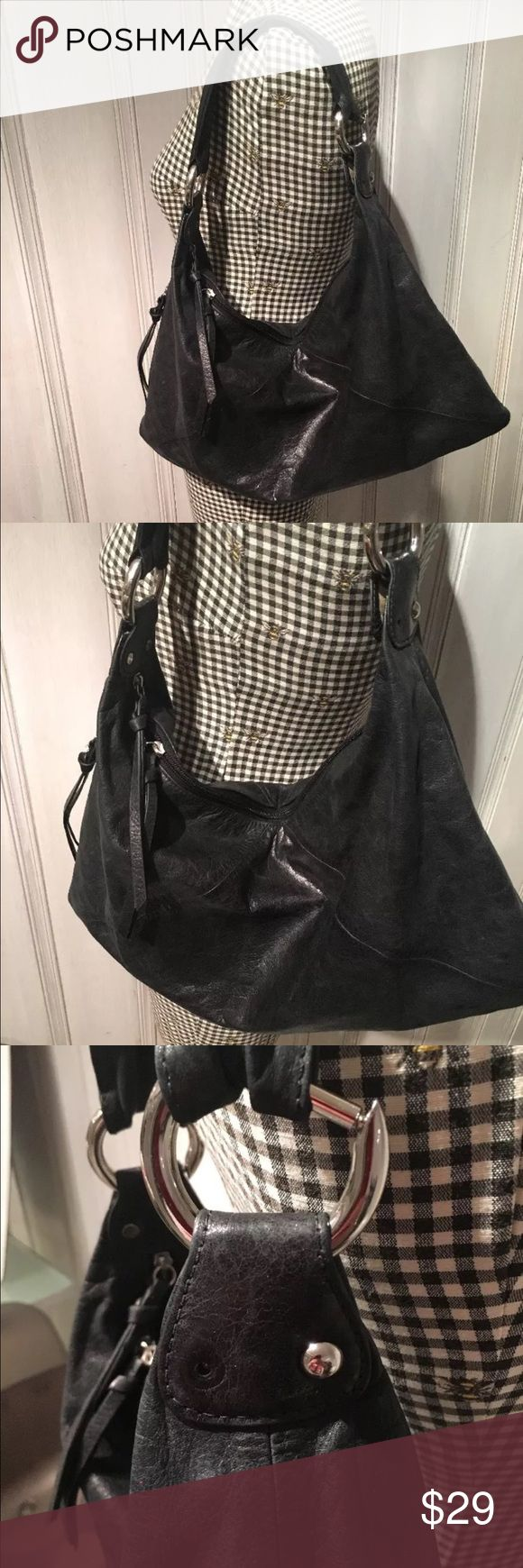 Hobo International Soft Leather Purse Bag Black Buttery soft leather! Perfect classic handbag. It is missing one of the silver beads on the one side, but really isn't noticeable. Scoop this smokin deal up! 20% off all bundles 🇺🇸 HOBO Bags Shoulder Bags