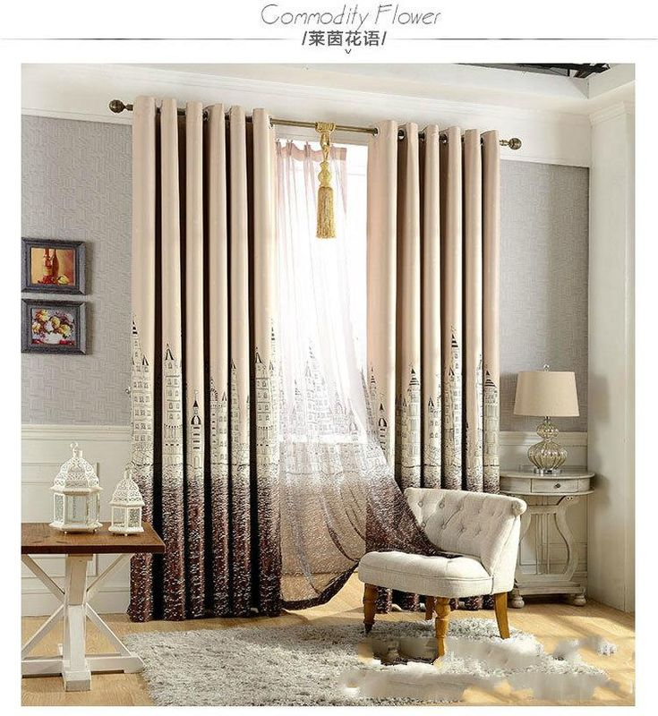 Mediterranean Style Blackout Curtains For Living Room Rideaux Pour Le Salon  Curtains For Bedroom Curtains For