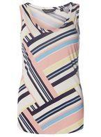 Womens Multi Colour Cut About Stripe Vest Top- Multi Colour