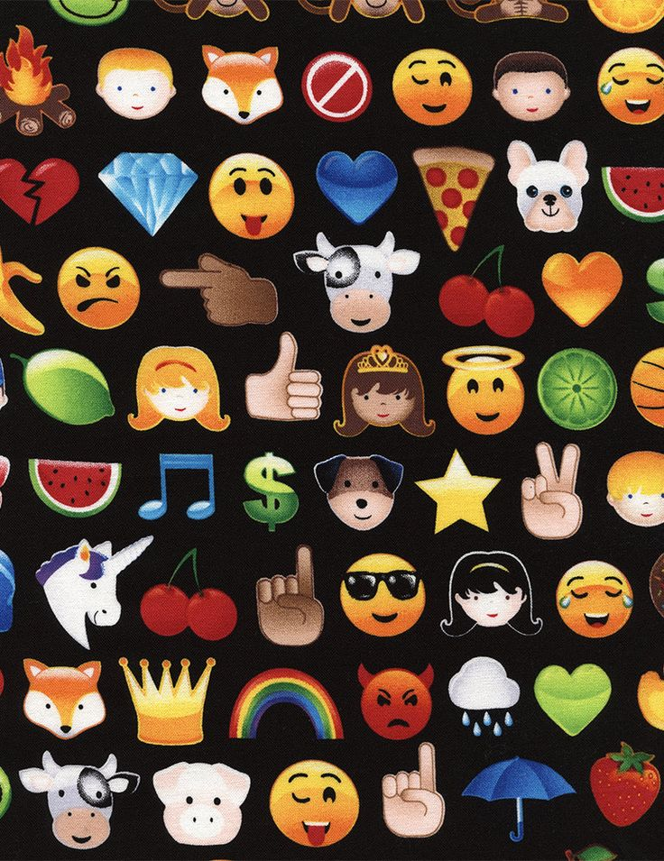 Emoji Fabric by the yard / Emoticons Fabric / Emojis Fabric / C4719 Timeless Treasures Fabric  / Yardage by SewWhatQuiltShop on Etsy