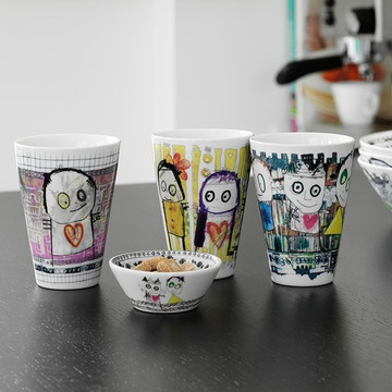 Poul Pava equals a slice of innocent charmfrom the happiest country in the world.(Denmark, obvs.) Thiscollection of crockery and vasesdecorated with enchanting, naïve paintings, conveys a sense of unschooled wonder. Just you try not to smile.