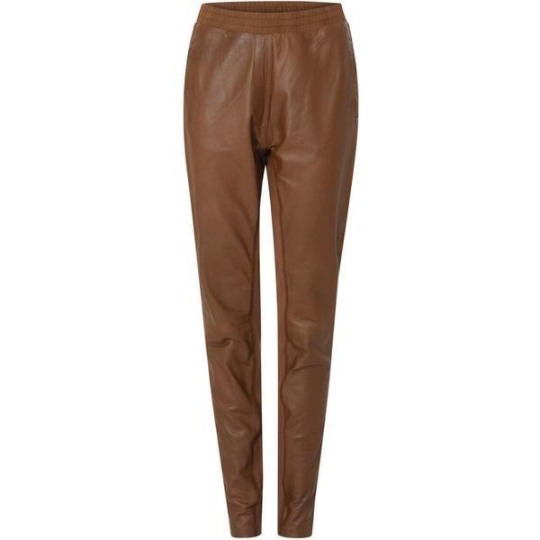 Leather pants - Cognac