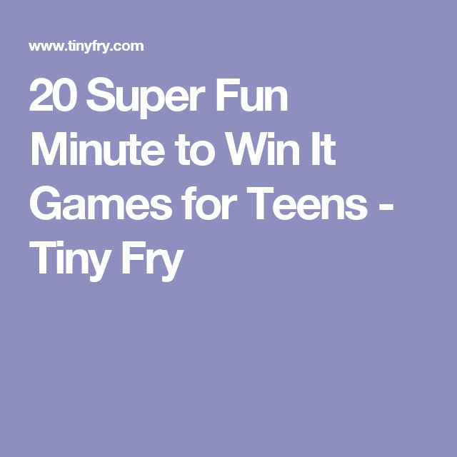20 Super Fun Minute to Win It Games for Teens - Tiny Fry