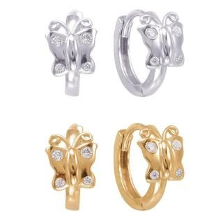 Shop for Sterling Silver/ Cubic Zirconia Butterfly endless Hoop Earrings. Free Shipping on orders over $45 at Overstock.com - Your Online Jewelry Destination! Get 5% in rewards with Club O!