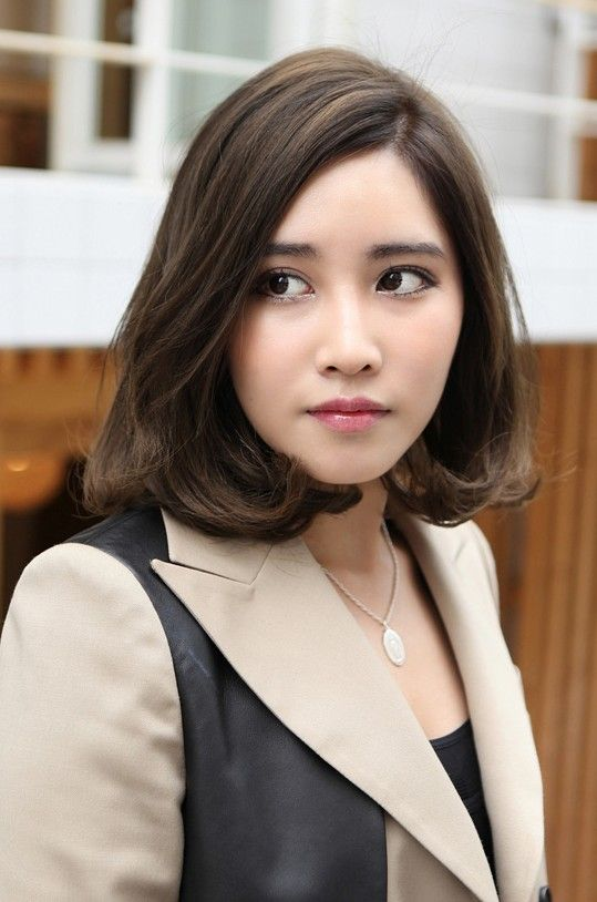 short medium hairstyles korean - love this!