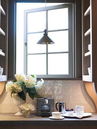 : Kitchens Window, Butler Pantries, Mornings Coffee, Decor Inspiration, Fresh Flowers, Kitchens Counter, Kitchens Coffee Bar, Coffee Stations, Inspiration Kitchensappli