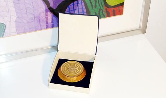 Orgone orgonite® pocket size power of gold 2 gold-plated