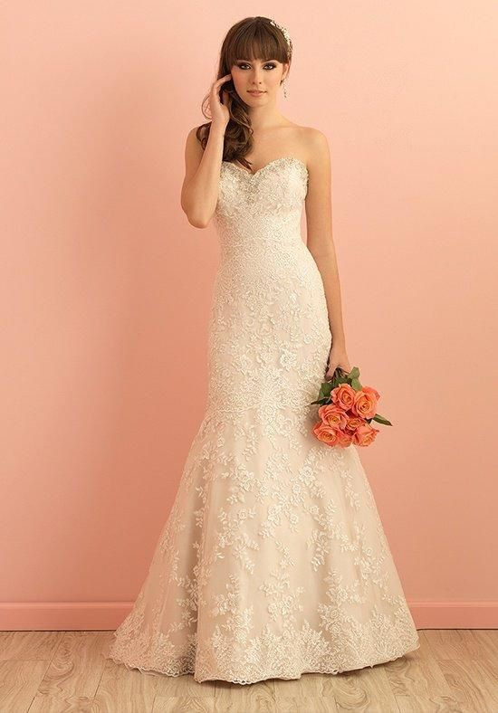 Lovely Allure Bridal Style Gorgeous lace and Swarovski crystals adorn this exquisite Allure