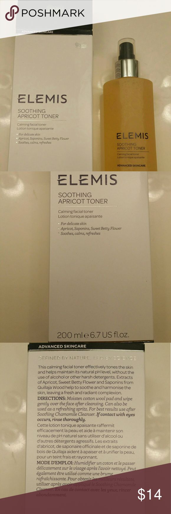 New never used elemis apricot toner Never used in orginal box apricot toner. Bought directly from a local spa. elemis Makeup