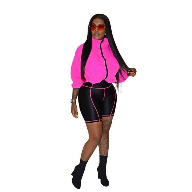 Two Piece Set Biker Shorts Tracksuit –  #Biker #piece #Set #shorts #Tracksuit   – Biker Shorts Outfit