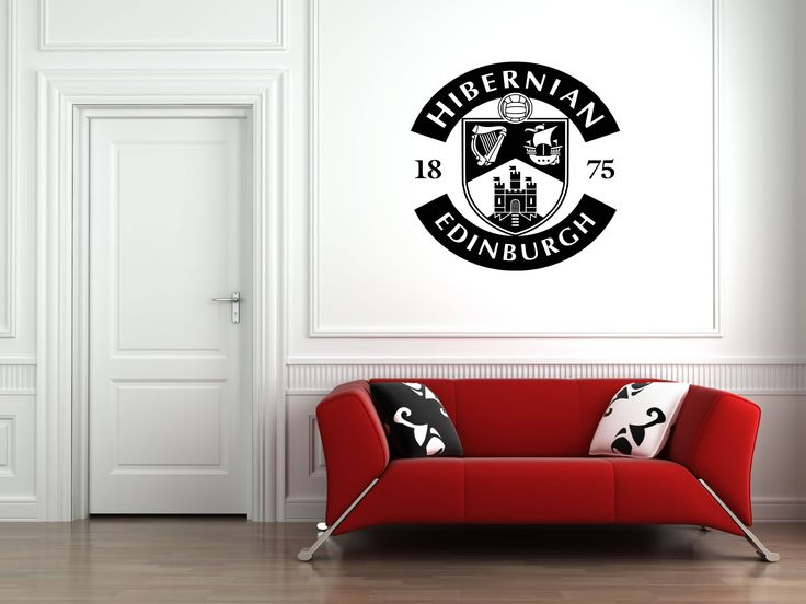 Fc hibernian edinburgh badge wall art vinyl decal sticker football club sport soccer mural