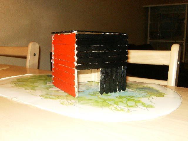 A house built for my fat-tailed gerbil Ninja.