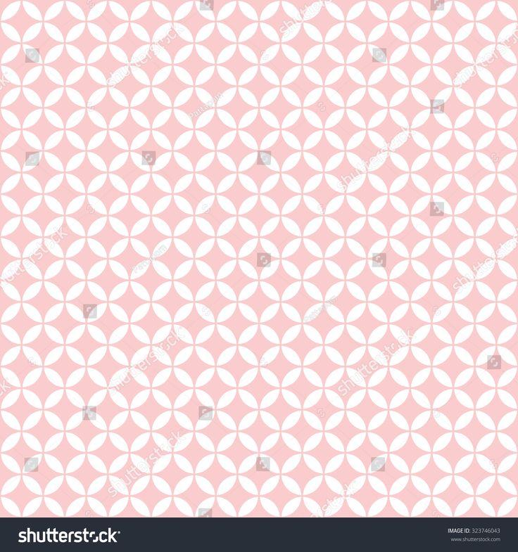 pink & white quatrefoil pattern, seamless texture background