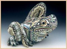 Polymer Clay Art Animal Sculpture - Frog