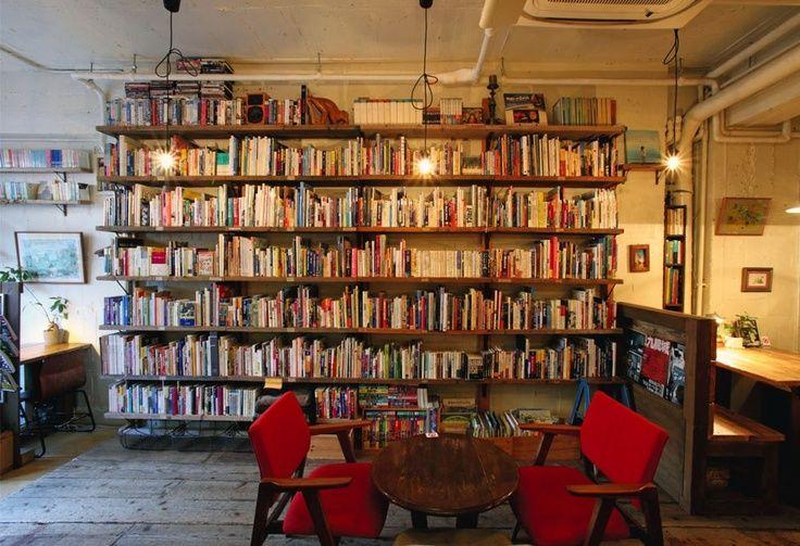 Bookcafe - Waseda, Japan.