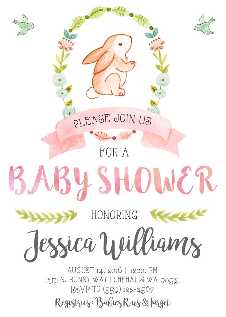 25+ best ideas about Bunny baby showers on Pinterest