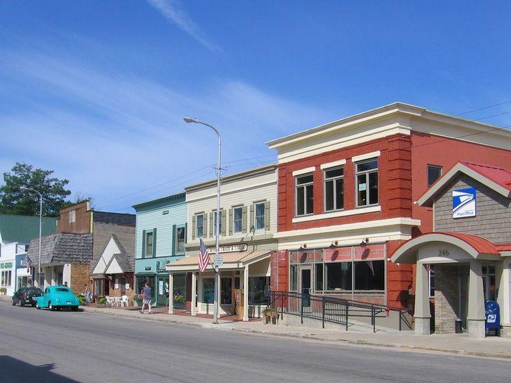 Downtown Beulah Michigan