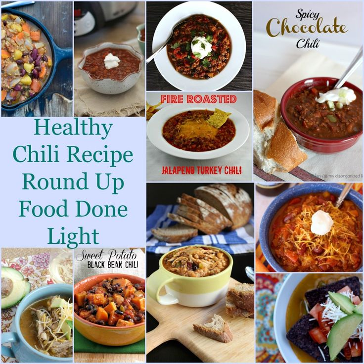 healthy chili recipe round up www.fooddonelight.com