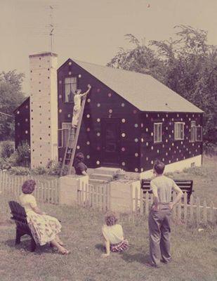 Polka dot house <3!