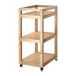MOLGER Kastje op wielen - berken - IKEA