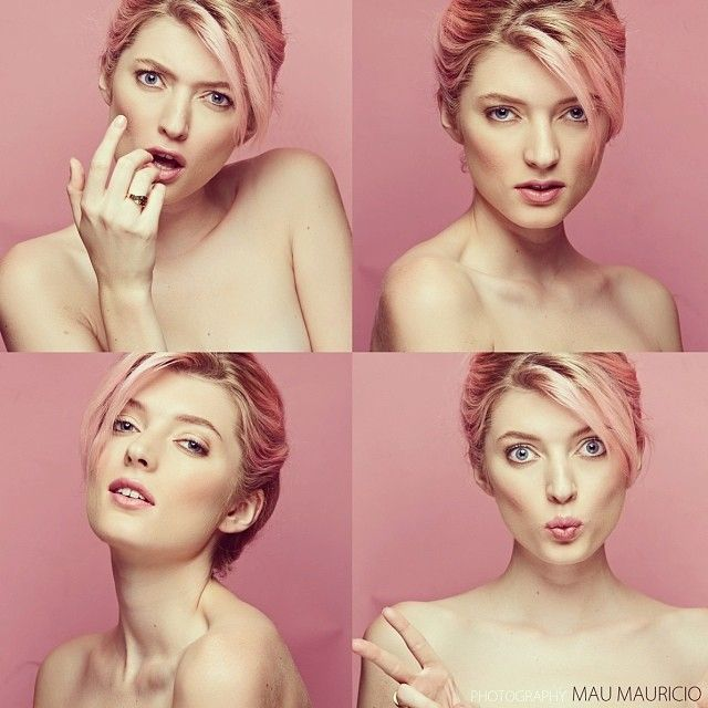 "@sophiesumner8's photo: ""The four faces of Sophie sumner ! Thank you to the amazingly talented make up by @Mau N Au Mauricio and photography by @mauricemauricio :) #pink #photoshoot #potd #girlie  #quirky"""